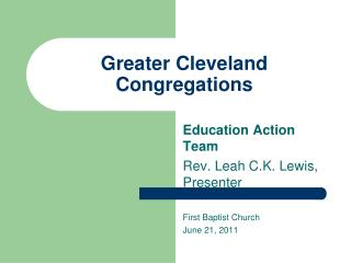Greater Cleveland Congregations