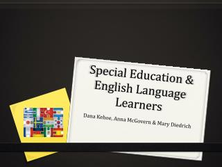 Special Education & English Language Learners
