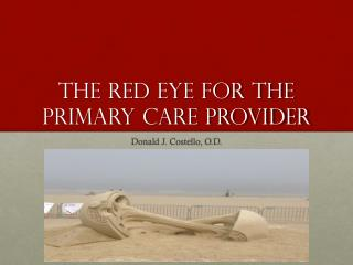 The red eye for the primary care provider