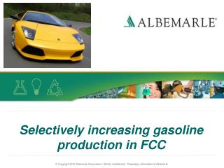 Selectively increasing gasoline production in FCC