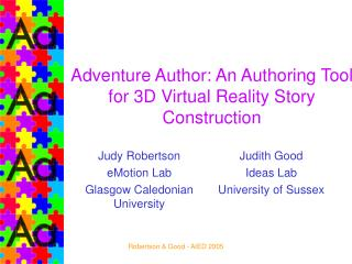 Adventure Author: An Authoring Tool for 3D Virtual Reality Story Construction