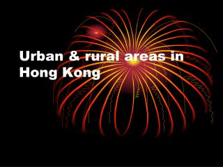 Urban & rural areas in Hong Kong