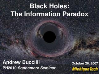 Black Holes: The Information Paradox