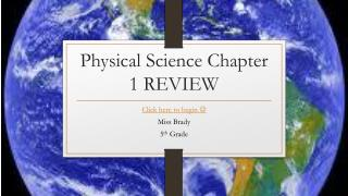 Physical Science Chapter 1 REVIEW