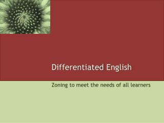 Differentiated  English