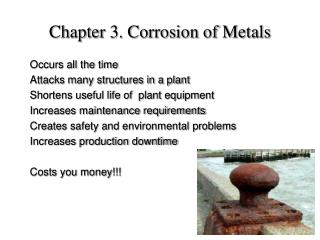 Chapter 3. Corrosion of Metals