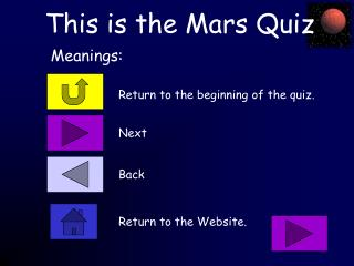 This is the Mars Quiz
