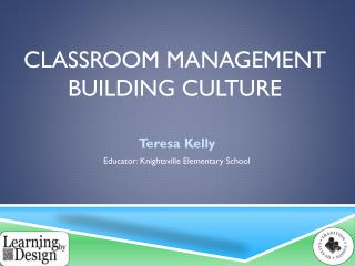 Classroom Management Building Culture