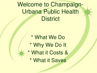 Welcome to Champaign-Urbana Public Health District