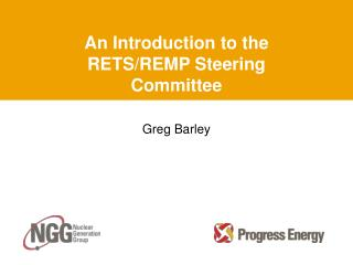 An Introduction to the RETS/REMP Steering Committee