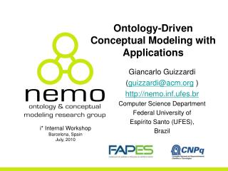 Ontology-Driven Conceptual Modeling with Applications