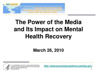 The Power of the Media and Its Impact on Mental Health Recovery