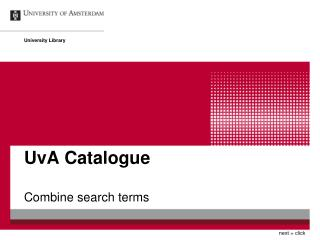 UvA Catalogue