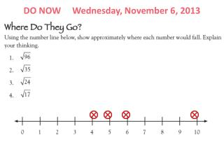 DO NOW     Wednesday, November 6, 2013