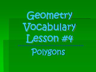 Geometry Vocabulary Lesson #4