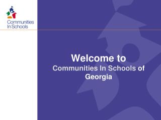 Welcome  to  Communities In Schools  of Georgia
