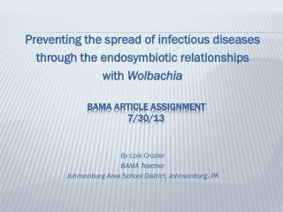 BAMA Article Assignment   7/30/13