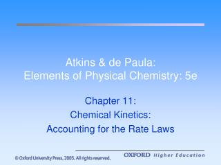 Atkins & de Paula:  Elements of Physical Chemistry: 5e
