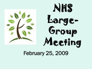 NHS  Large-Group Meeting