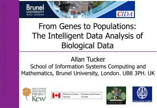 From Genes to Populations: The Intelligent Data Analysis of  Biological Data