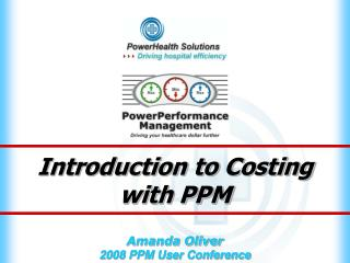 Introduction to Costing with PPM