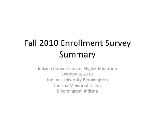 Overview of the Illinois Board of Higher Education