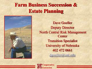 Farm Business Succession &  Estate Planning