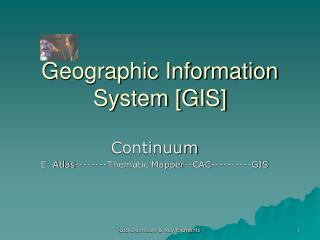 Geographic Information System [GIS]