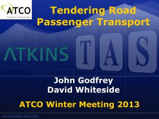 Tendering Road Passenger Transport