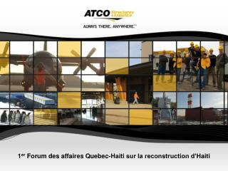 1 er  Forum des affaires Quebec-Haiti sur la reconstruction d'Haiti