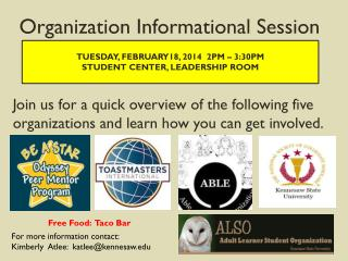 Organization Informational Session