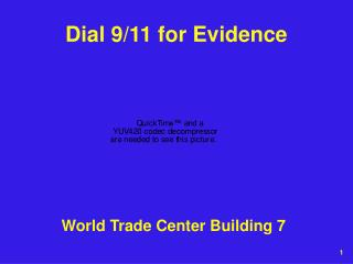 Dial 9/11 for Evidence