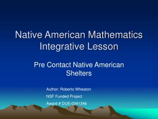 Native American Mathematics Integrative Lesson