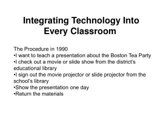 Integrating Technology Into Every Classroom