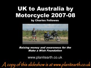 UK to Australia by Motorcycle 2007-08