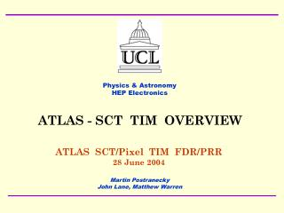 ATLAS  SCT/Pixel  TIM  FDR/PRR 28 June 2004