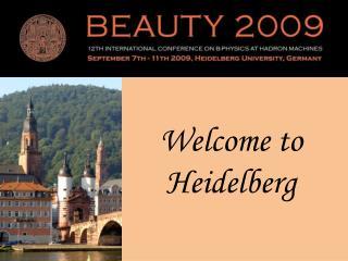 Welcome to Heidelberg