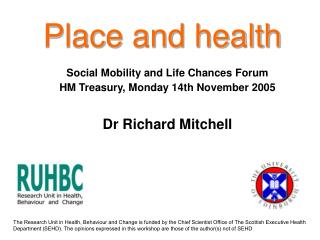 Place and health