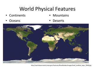 World Physical Features