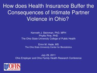How does Health Insurance Buffer the Consequences of Intimate Partner Violence in Ohio?