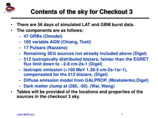 Contents of the sky for Checkout 3