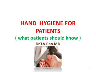 hand hygiene for patients