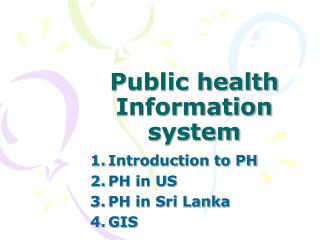 Public health Information system