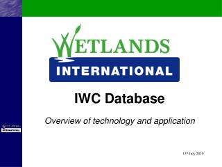 IWC Database Overview of technology and application