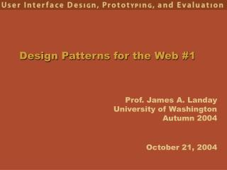 Design Patterns for the Web #1