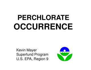 PERCHLORATE OCCURRENCE