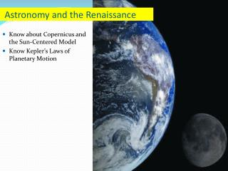 Astronomy and the Renaissance