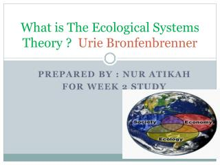 What is The Ecological Systems Theory  ?   Urie Bronfenbrenner