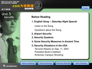 1. English Song --  Saturday Night Special