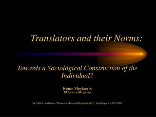 Translators and their Norms: